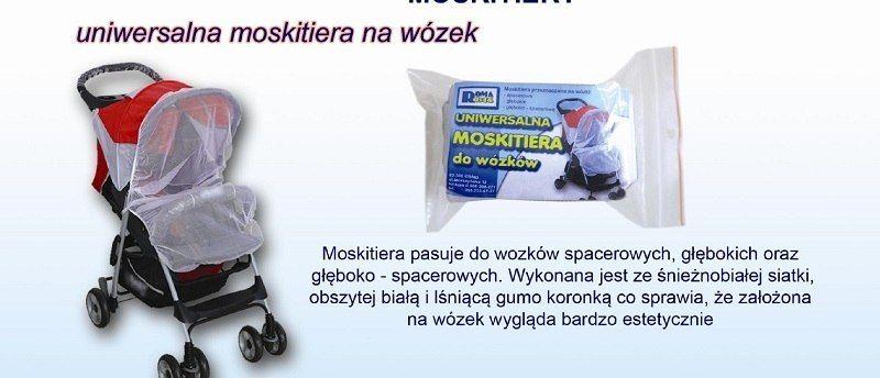 Moskitiera na wózek uniwersalna