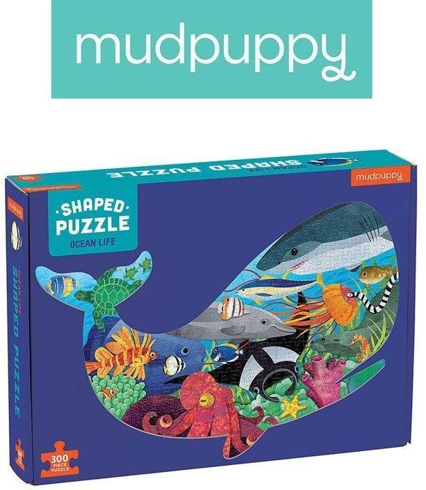 Mudpuppy Puzzle kształty Życie oceanu 300 elementów, 7+