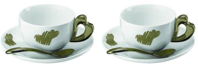 Guzzini - love - kpl. 2 filiżanek do cappuccino, piaskowy