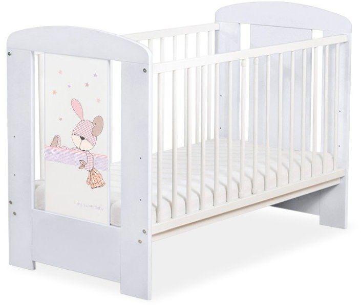 Łóżeczko drewniane Szary Króliczek marzyciel, 501906677-My Sweet Baby