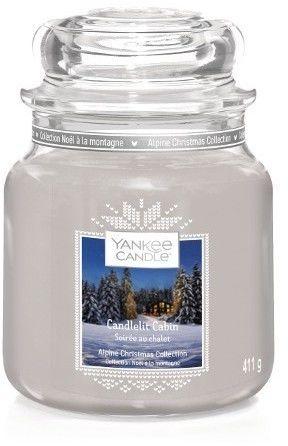 Yankee Candle Candlelit Cabin świeczka zapachowa Classic średnia 411 g