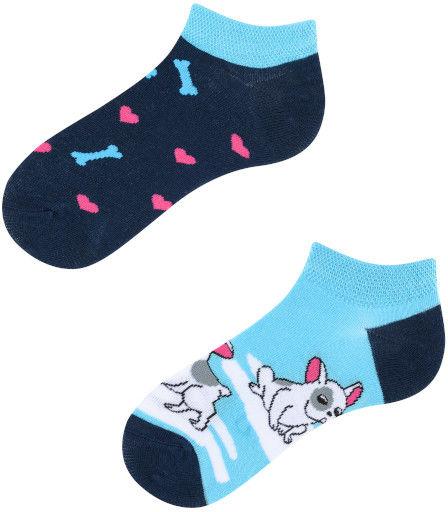 Stopki, Lovely Dog Kids Low, Todo Socks, Piesek, Szczeniak, Kolorowe Dziecięce