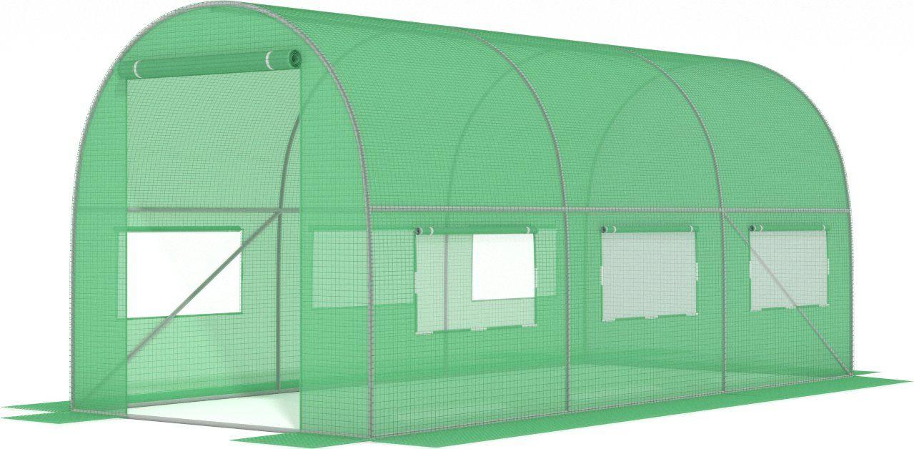 Tunel foliowy 3,5 m x 2 m /zielony/