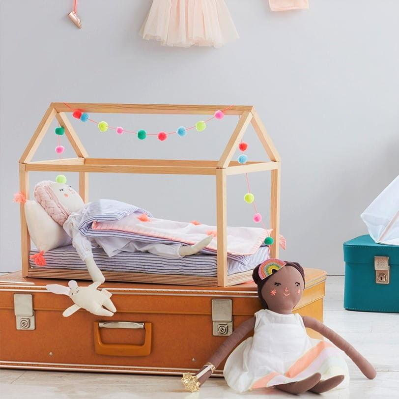 Łóżko Drewniane dla Lalki