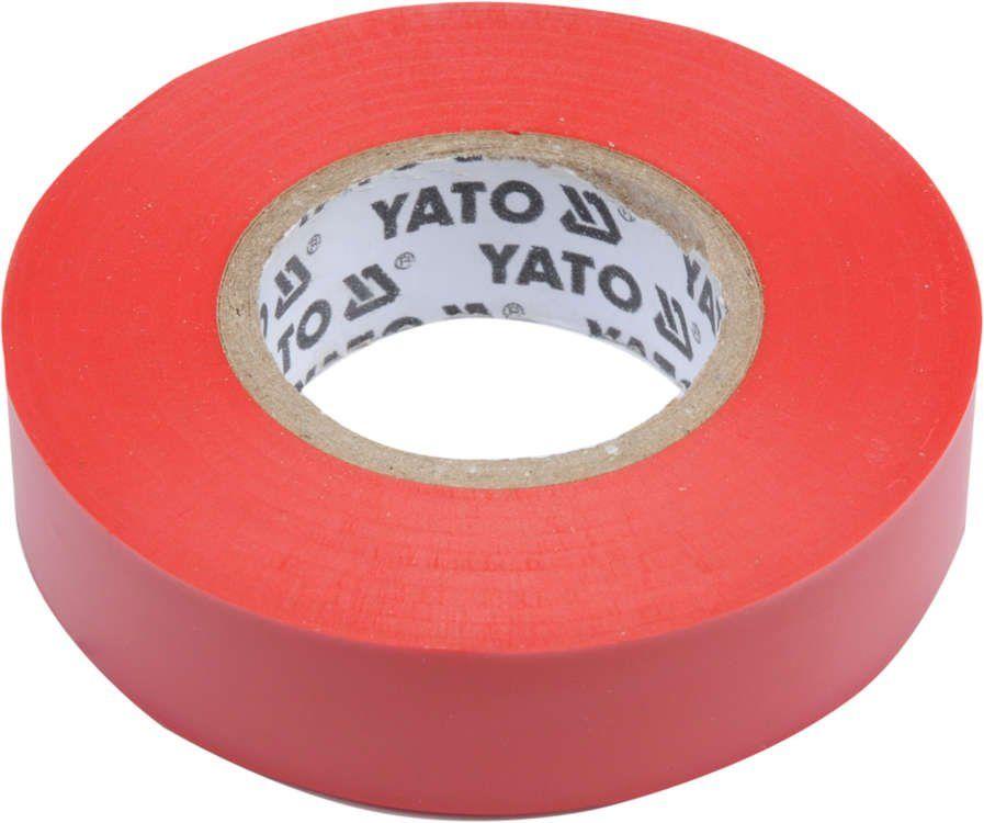 Taśma elektroizolacyjna 15mmx20mx0,13mm; czerwona Yato YT-81592 - ZYSKAJ RABAT 30 ZŁ