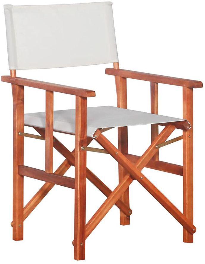 Krzesło reżyserskie tarasowe Martin - białe