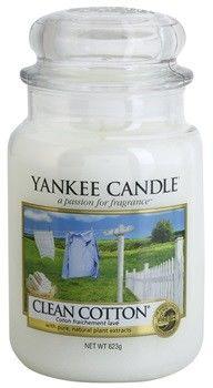Świeca zapachowa Yankee Candle DUŻA - Clean Cotton