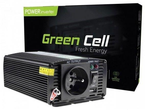 Samochodowa Przetwornica Napięcia Green Cell 12V do 230V, 300W/600 INV01