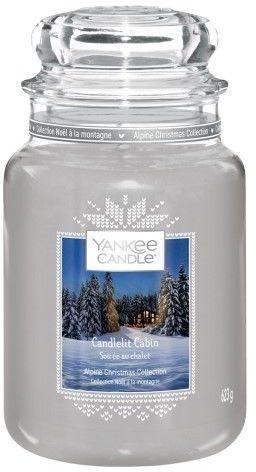 Yankee Candle Candlelit Cabin świeczka zapachowa Classic duża 623 g