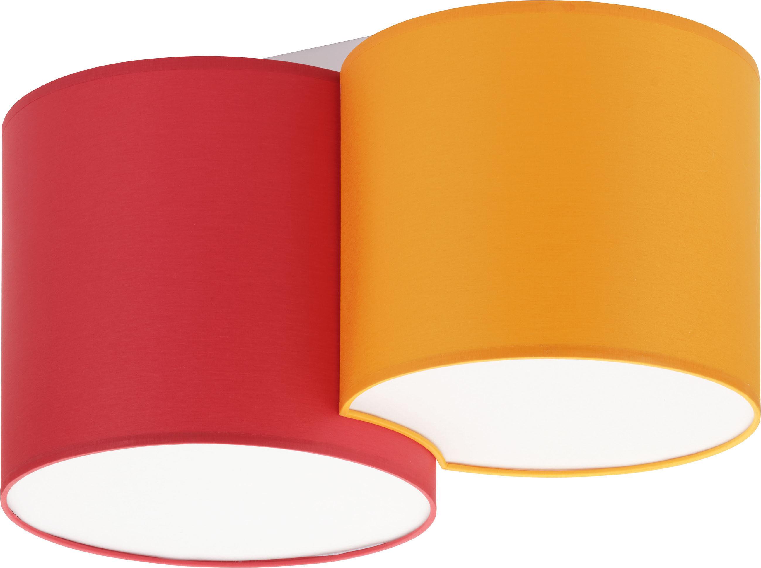 Mona Kids plafon 2-punktowy czerwony/pomarańczowy 3274