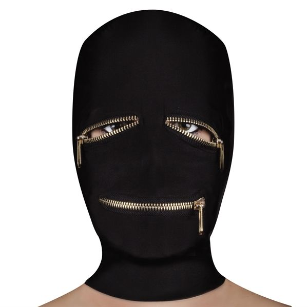 Ouch! Extreme Zipper Mask with Eye and Mouth Zipper - Face Mask