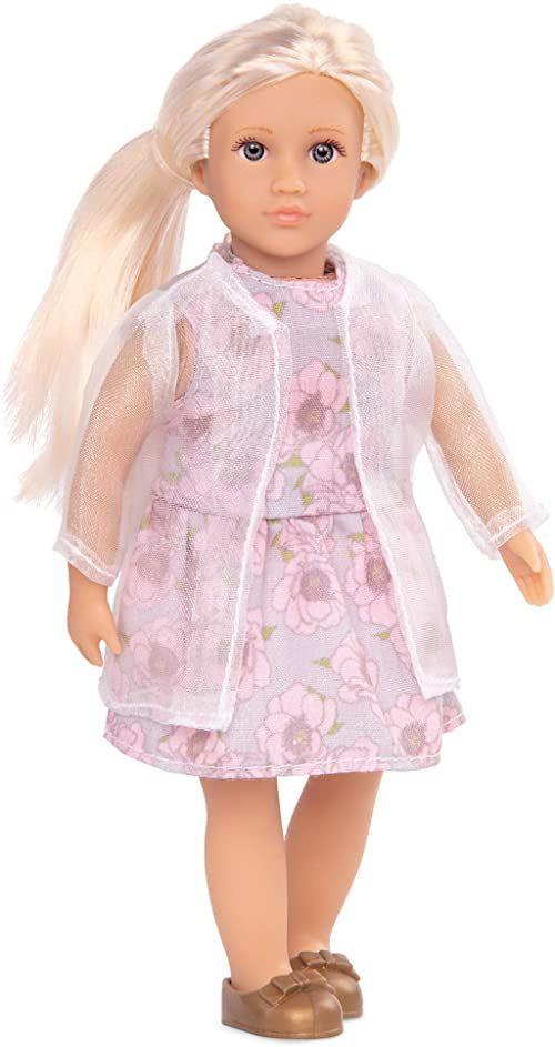 Lori LO31160Z 15 cm lalka z kwiatowym nadrukiem, Perla