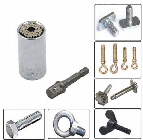 Nasadka uniwersalna CRV z adapterem 7-19 mm 1/4-3/4 klucz nasadowy