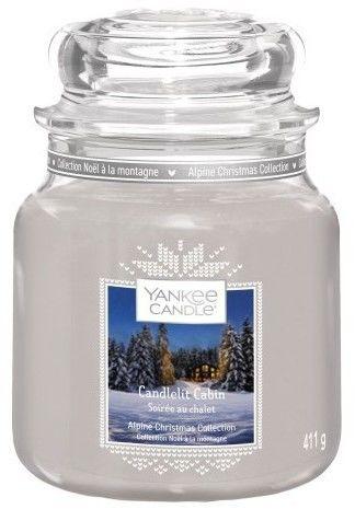 Yankee Candle Candlelit Cabin świeczka zapachowa Classic mała 104 g