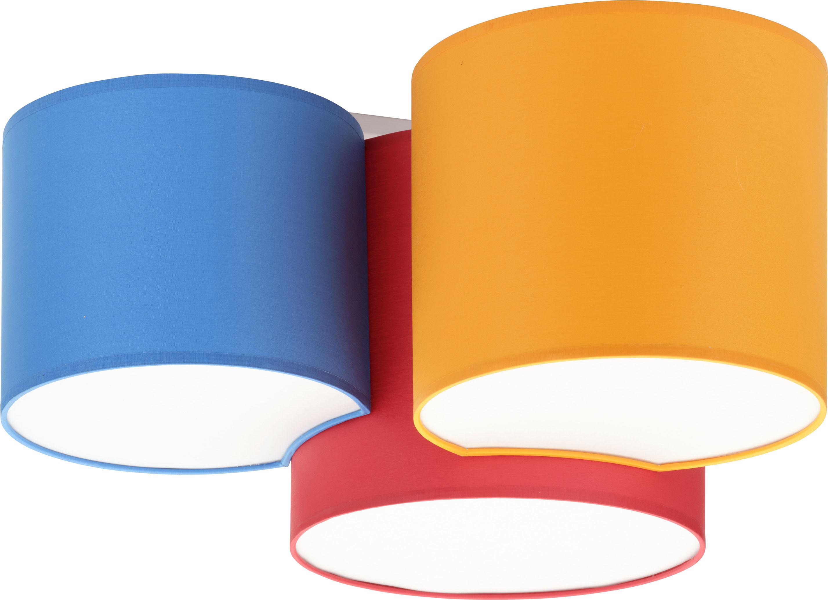 Mona Kids plafon 3-punktowy czerwony/pomarańczowy/niebieski 3275