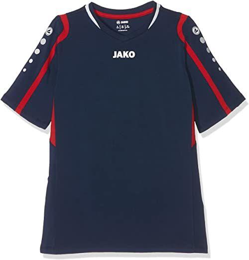JAKO Dziecięca siatkówka koszulka blokowa do siatkówki, granatowa/czerwony/biały, 140
