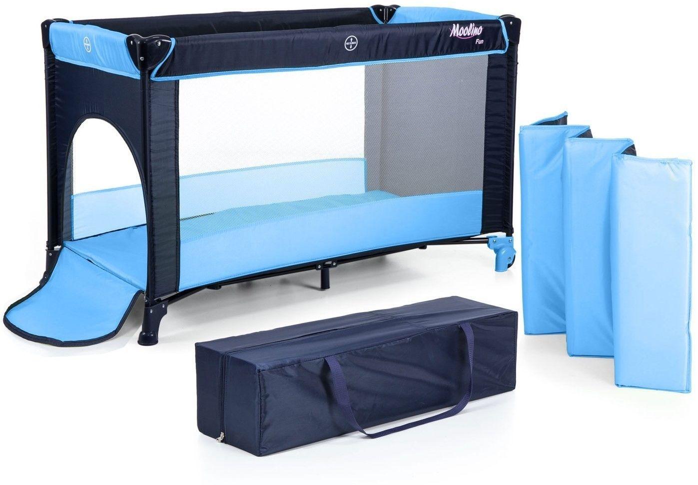 Łóżeczko turystyczne kojec Moolino FUN P900 (Niebieski)