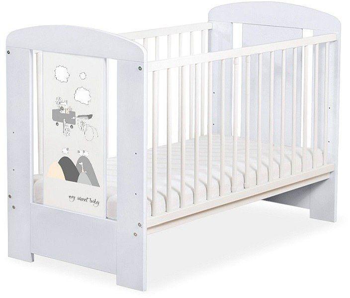 Łóżeczko szare drewniane Szalony wilczek, 501906660-My Sweet Baby