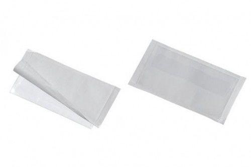 Samoprzylepna kieszonka na wizytówki POCKETFIX PLUS z klapką 57x90mm 10 sztuk 809219