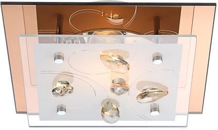 Globo plafon lampa sufitowa Ayana 40412 szkło kryształy 24cm