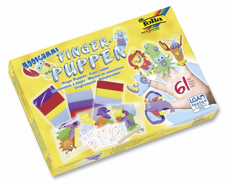 folia 23019  lalki z gumy piankowej, 61-częściowy zestaw do majsterkowania dla dzieci do tworzenia 15 zabawnych lalek z gumy piankowej