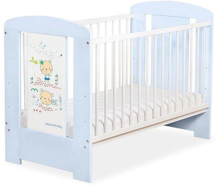 Łóżeczko drewniane Dwa niebieskie misie, 501903667-My Sweet Baby