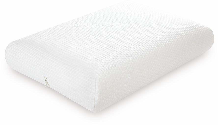 TED lateksowa ergonomiczna poduszka pod głowę, 40 x 60 cm, powłoka z zamkiem błyskawicznym, antystatyczna tkanina