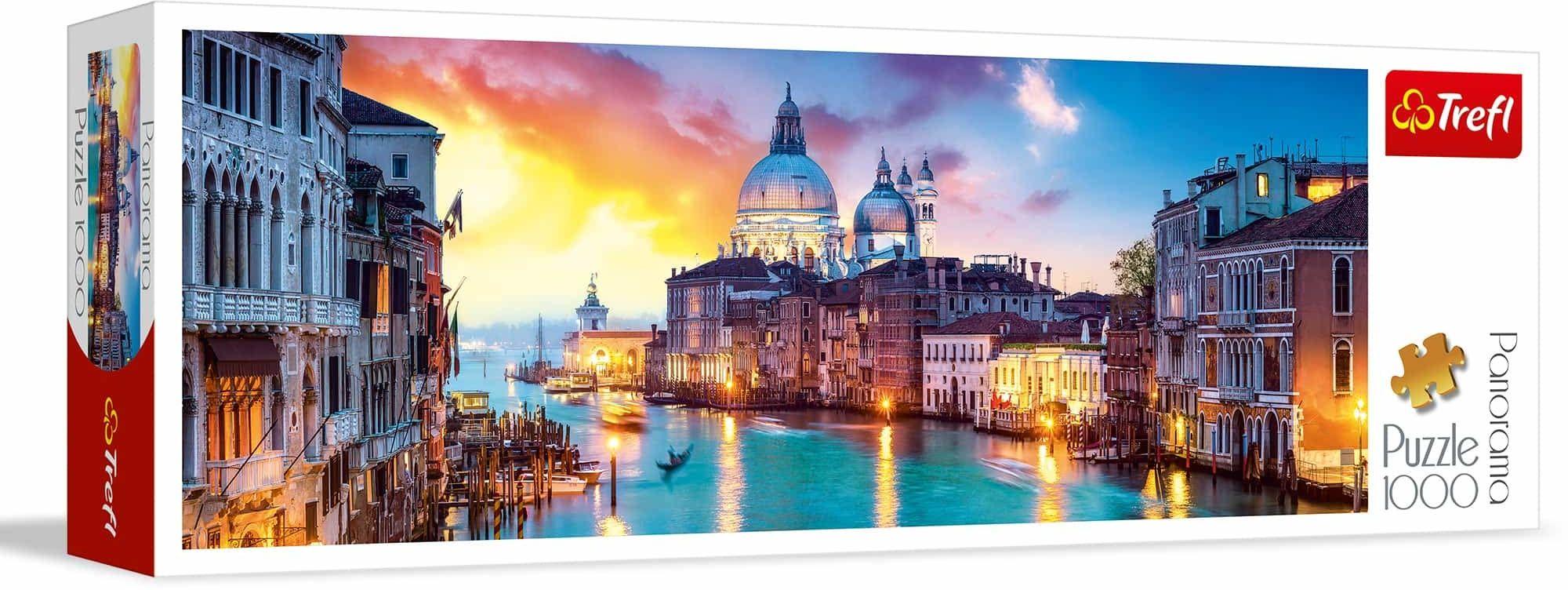 Trefl Canal Grande, Wenecja Puzzle Panoramiczne 1000 Elementów o Wysokiej Jakości Nadruku, od 12 lat