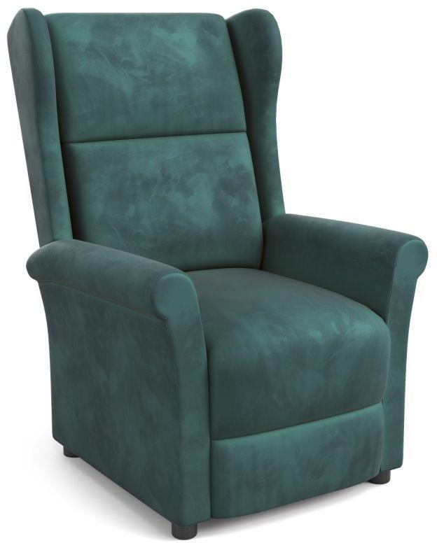 Fotel rozkładany wypoczynkowy AGUSTIN 2 ciemny zielony Halmar