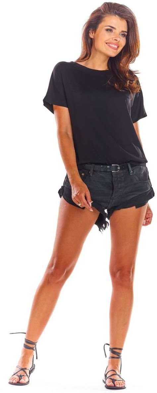 Czarna oversizowa bluzka wiązana na plecach