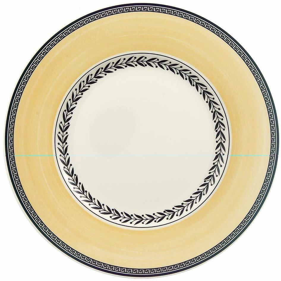 Villeroy & Boch Audun Ferme śniadanie, talerz na jedzenie Maofof porcelana premium z zabawną dekoracją kwiatową, nadaje się do zmywarki, 22 cm