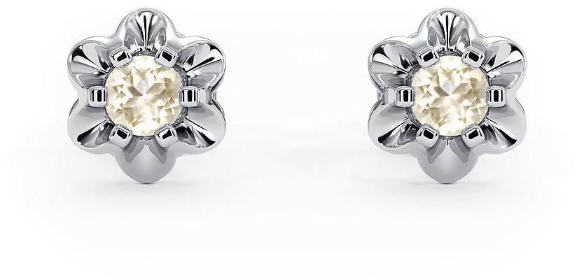 Kuźnia Srebra - Kolczyki srebrne, 7mm, Cytryn, 2g, model
