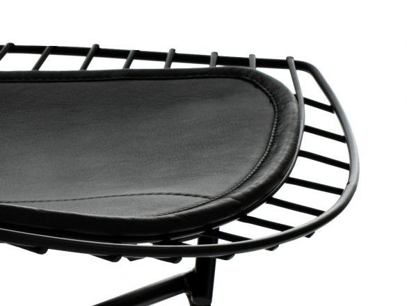 Customform - poducha do krzesła Wir, biały, czarny