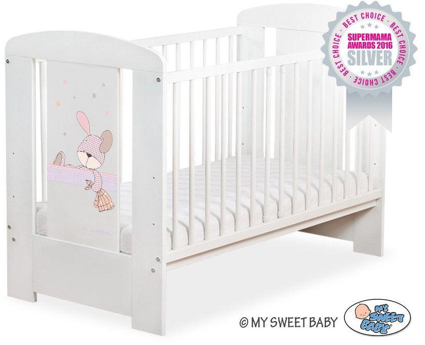Łóżeczko drewniane Króliczek marzyciel, 501907677-My Sweet Baby