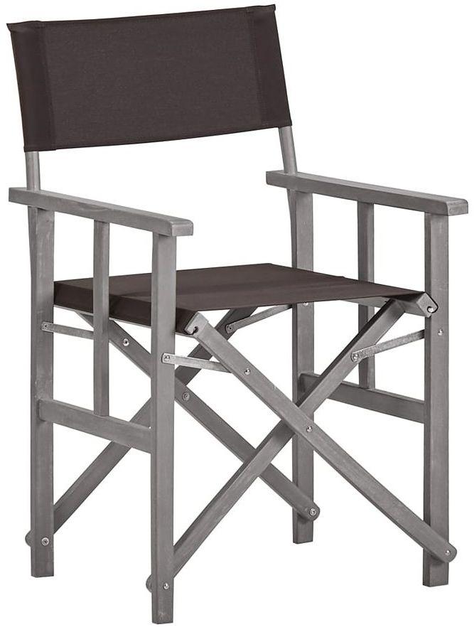 Krzesło reżyserskie ogrodowe Martin - czarne