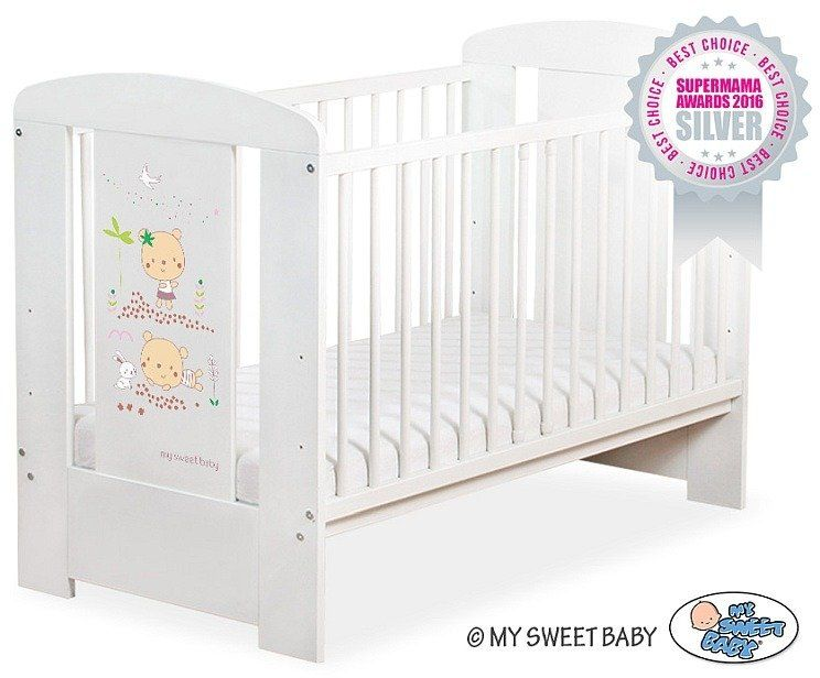 Łóżeczko drewniane Słodkie misie, 501907668-My Sweet Baby