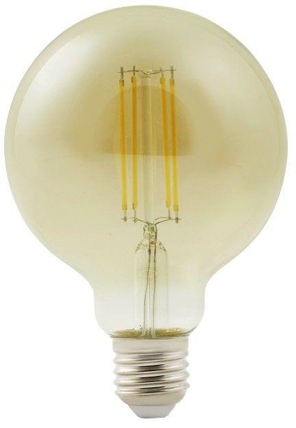 Żarówka LED Diall G95 E27 9 W 806 lm przezroczysta barwa zimna smoky