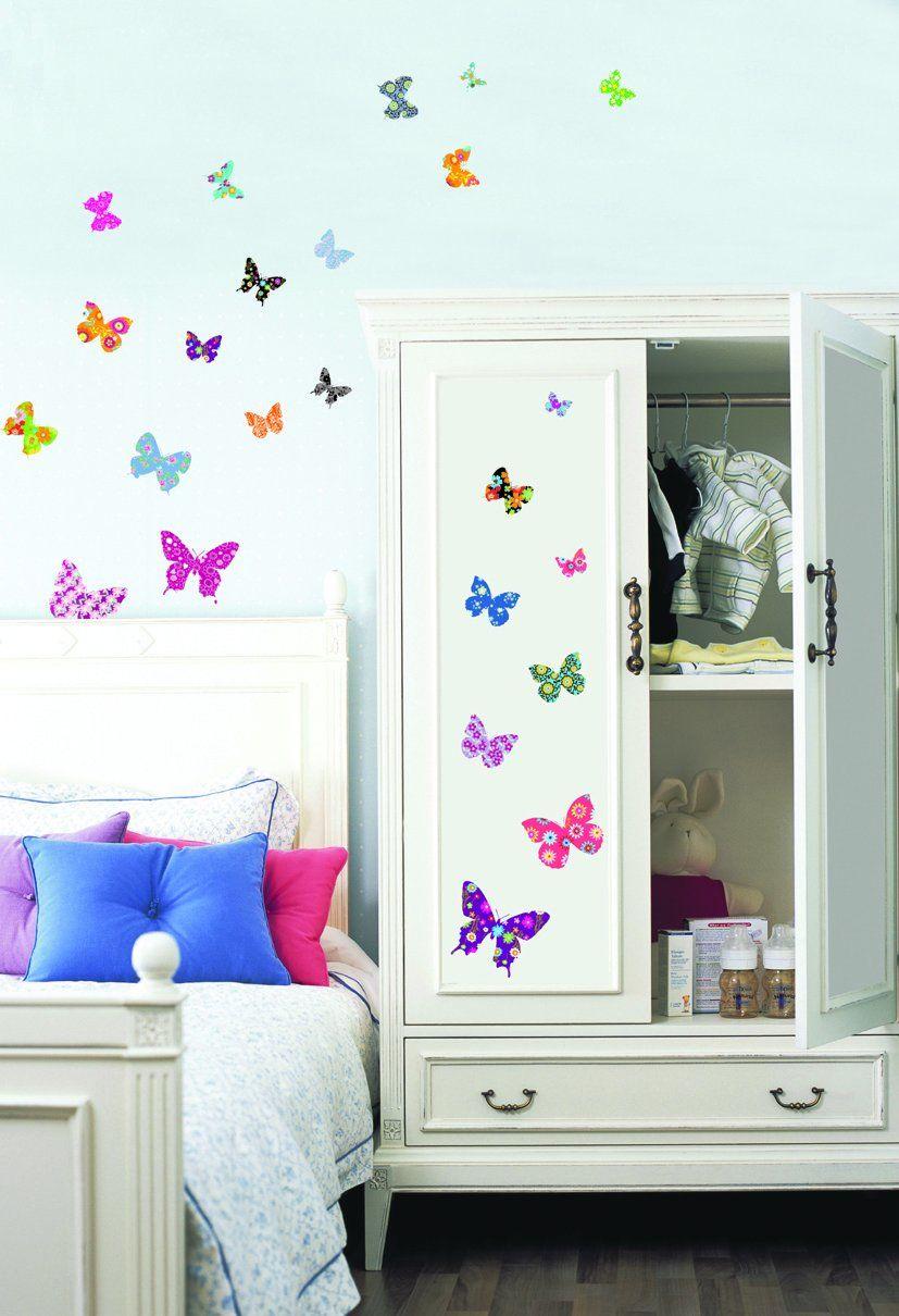 iDesign motyle naklejki ścienne, PCW, kolorowe