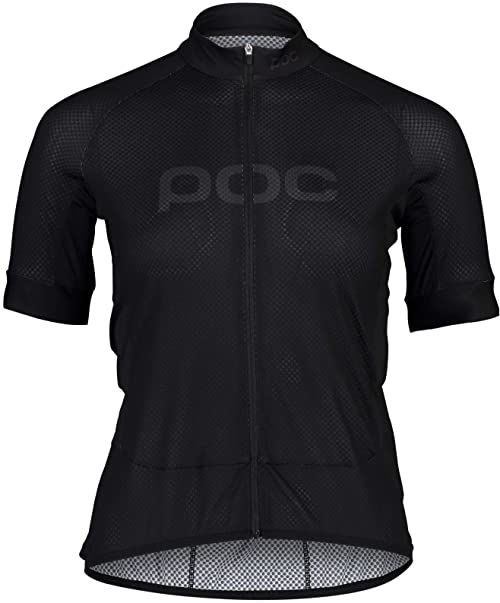 POC Damska koszulka z logo W''s Essential Road Uranium Black/Uranium Black S