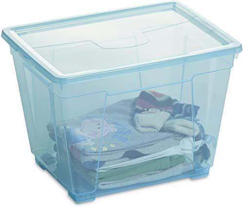 DEA HOME Pudełko do przechowywania Easy Box M-H-ART. 362-DEA HOME, 40x30x28, przezroczyste niebieskie