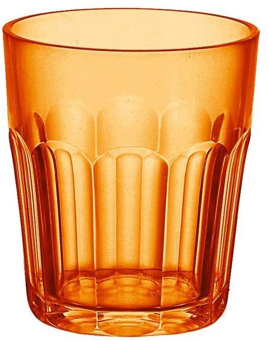 Guzzini - happy hour - kubek niski, pomarańczowy, 2 szt.