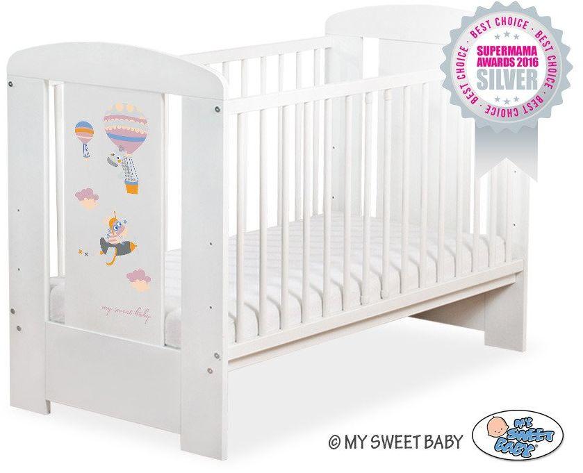 Łóżeczko drewniane Szczęśliwe balony, 501907662-My Sweet Baby