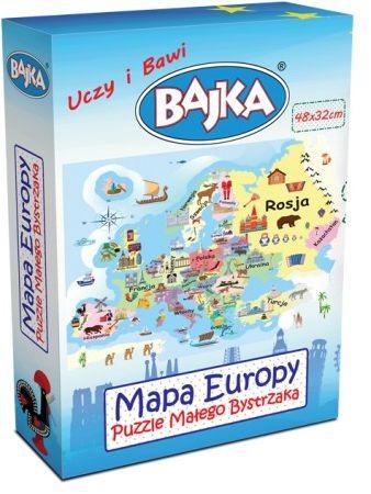 Mapa Europy - Puzzle Małego Bystrzaka