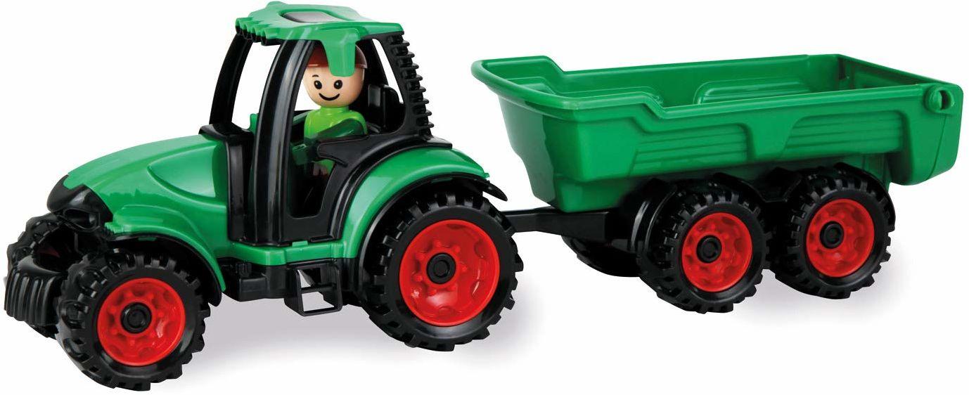 Lena 01625 Truckies ok. 38 cm, zawiera ciągnik i przyczepę 2 lata, solidny zestaw zabawek do piaskownicy, plaży i pokoju dziecięcego