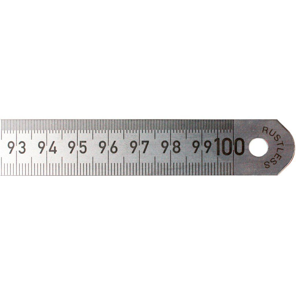Przymiar stalowy - liniał 500 mm PODZIAŁ co 1/2 mm