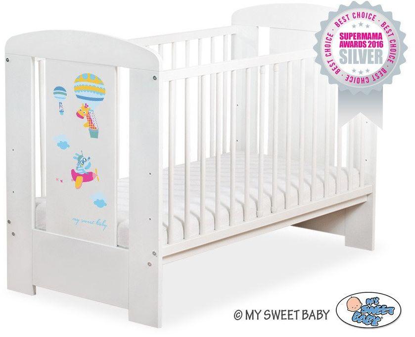 Łóżeczko drewniane Szczęśliwe balony, 501907661-My Sweet Baby