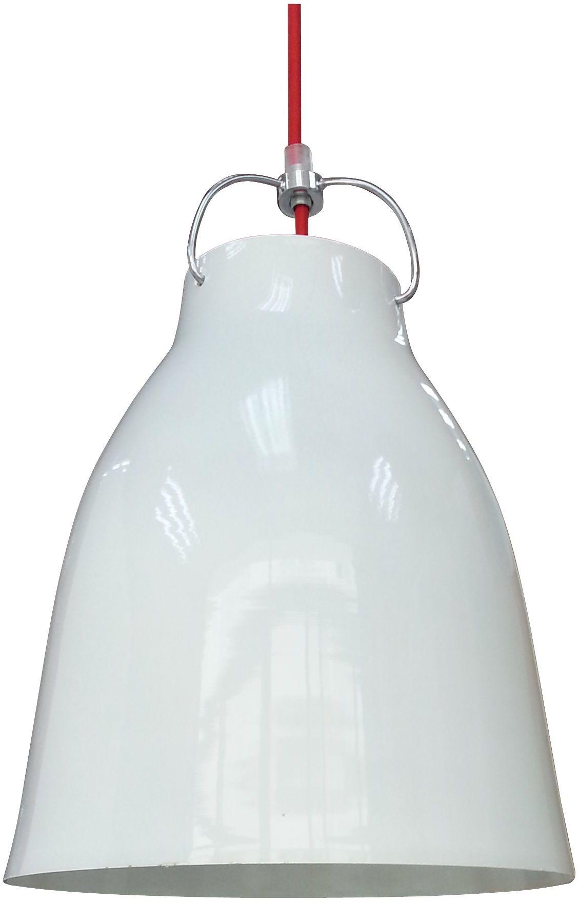 Candellux PENSILVANIA 31-20253 lampa wisząca metalowy klosz biały 1X60W E27 25cm