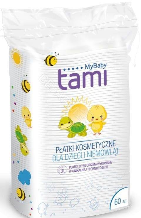 Tami MyBaby płatki kosmetyczne dla dzieci i niemowląt 60 sztuk