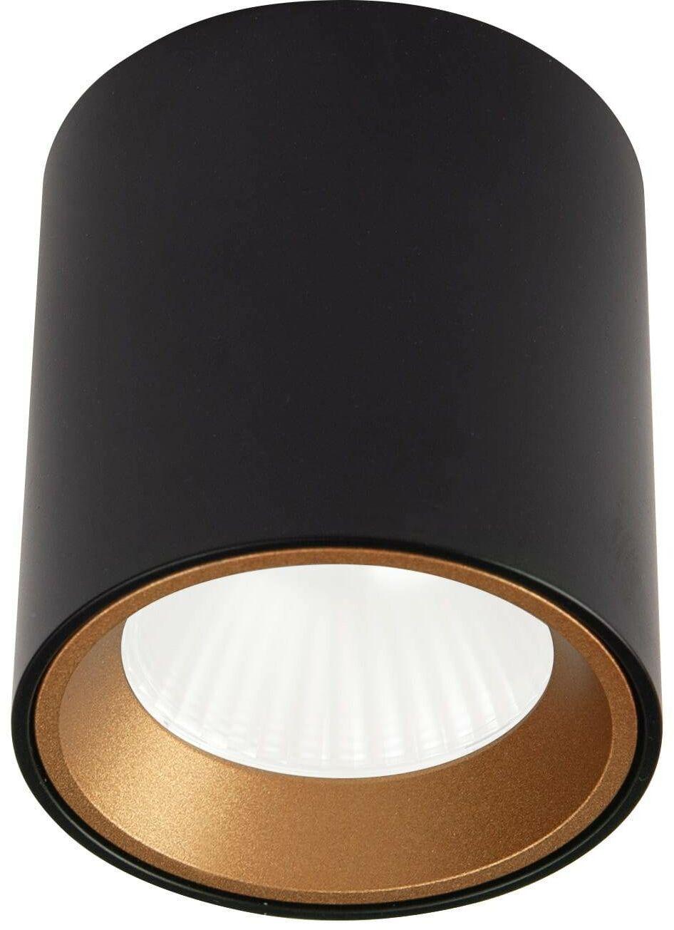 Oprawa natynkowa Tub C0211 okrągła czarna + pierścień ozdobny złoty RC0155/C0156 MaxLight