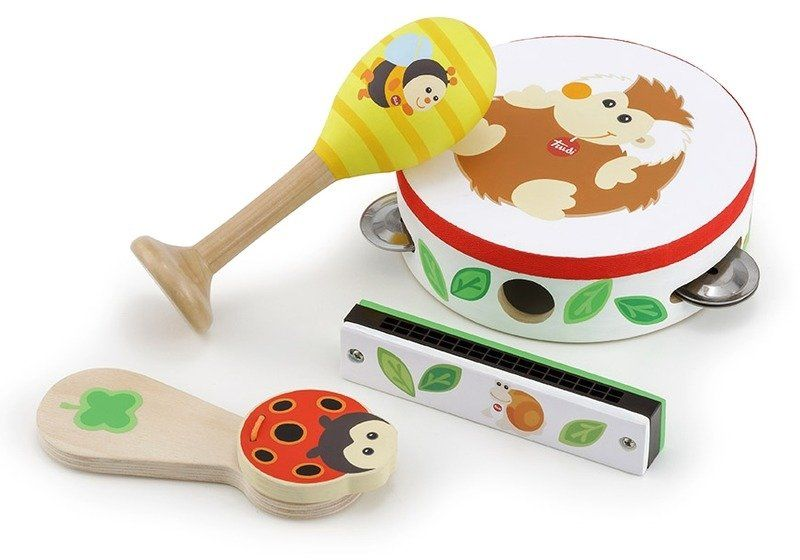 Drewniane instumenty dla dzieci Magia muzyki 88005-Trudi by Sevi, zabawki muzyczne